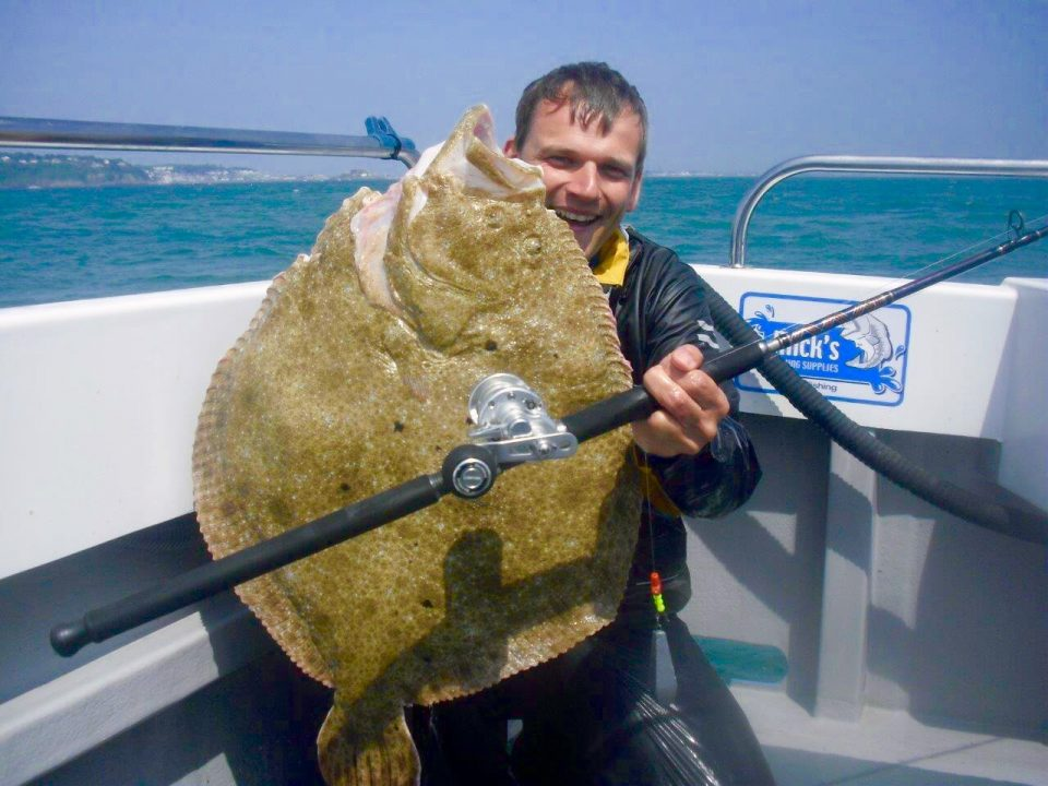 22lb 8oz turbot for Oliver from Germany, fishing on Snowbee charter boat 'OUT THE BLUE' he came especially for the Turbot & caught this monster on SnowbeeDeep blue 12lb gear