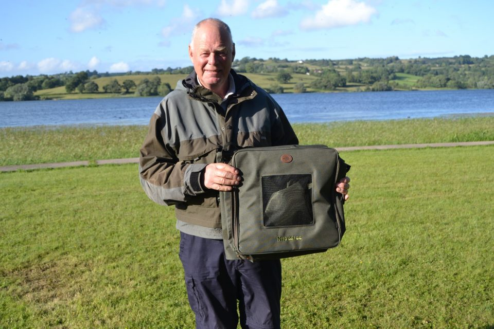 Dave Grove with another good bag on the day of 6 fish, he also collected a Snowbee travel accessory, the Snowbee Chest Wader bag.