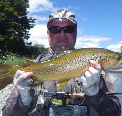 A fine Brown trout caught using our new Thistledown line...
