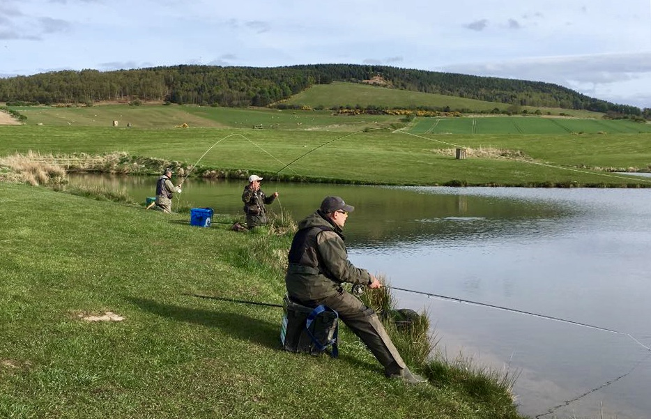 The Appleby family at Chatton trout fishery