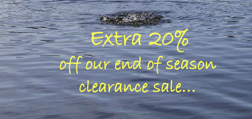 Don't miss out! Get an extra 20% off our end of season clearance sale…